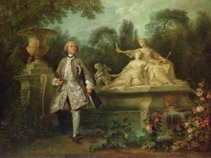 Portrait of the Actor Grandval, C.1742 by Nicolas Lancret