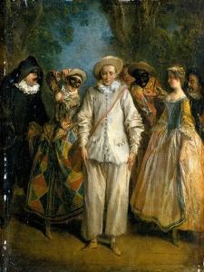 The Actors of the Commedia Dell'Arte by Nicolas Lancret