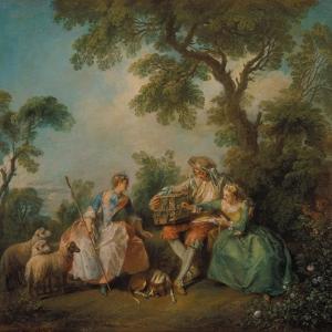 The Birdcage (Les Amours Du Bocage), about 1735 by Nicolas Lancret