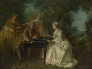 The Four Times of Day: Afternoon, C. 1740 by Nicolas Lancret