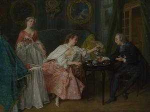 The Four Times of Day: Morning, C. 1740 by Nicolas Lancret