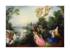 The Pleasures of Bathing by Nicolas Lancret