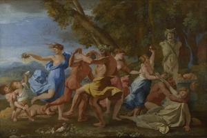 A Bacchanalian Revel before a Herm, 1632 by Nicolas Poussin