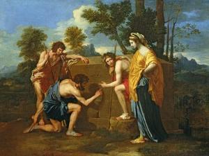 Arcadian Shepherds by Nicolas Poussin
