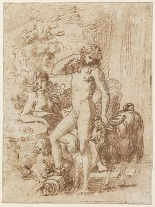 Bacchus and Erigone by Nicolas Poussin