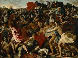 Battle of Joshuas Against the Amalekites, 1625 by Nicolas Poussin