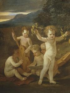 Cupid's Concert, C.1626-27 by Nicolas Poussin
