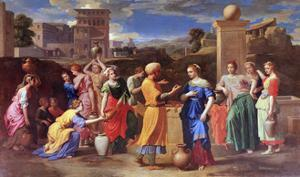 Eliezer and Rebecca, 1648 by Nicolas Poussin