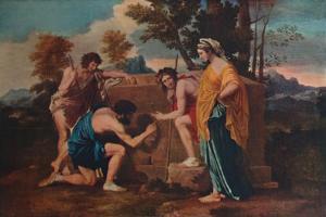 'Et in Arcadia ego (Les bergers d'Arcadie or The Arcadian Shepherds)', 1637-1638, (1911) by Nicolas Poussin