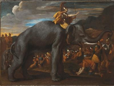 Hannibal Crossing the Alps on an Elephant