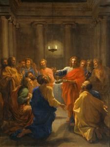 Jesus Christ Instituting the Eucharist, 1640-1641 by Nicolas Poussin