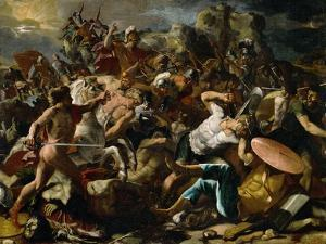 Joshua's Victory Over the Amorites, 1624 by Nicolas Poussin