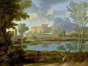 Landscape with a Calm, 1650-1 by Nicolas Poussin