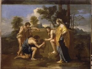 "Les Bergers d'Arcadie dit aussi ""Et in Arcadia Ego"" by Nicolas Poussin"