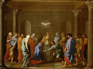 Marriage, from the Series of the Seven Sacraments, Before 1642 by Nicolas Poussin