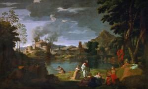 Orpheus and Euridice, circa 1659 by Nicolas Poussin