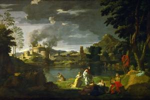 Orpheus and Eurydice, 1659 by Nicolas Poussin