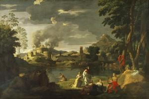Orpheus and Eurydice by Nicolas Poussin