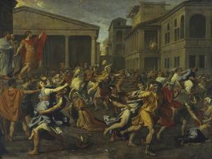 Rape of the Sabines by Nicolas Poussin