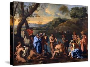 Saint John Baptizing the People, C1636-1637 by Nicolas Poussin