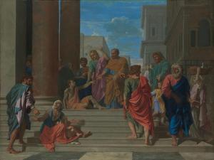 Saints Peter and John Healing the Lame Man, 1655 by Nicolas Poussin