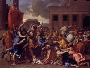 The Abduction of the Sabine Women, c.1633-34 by Nicolas Poussin