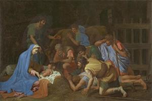 The Adoration of the Shepherds, c.1653 by Nicolas Poussin