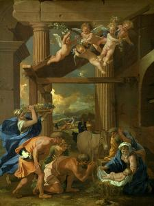 The Adoration of the Shepherds, C1633 by Nicolas Poussin