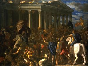 The Destruction and the Sack of the Temple of Jerusalem, 1625-26 by Nicolas Poussin