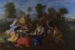 The Finding of Moses, 1651 by Nicolas Poussin
