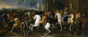 The Hunt of Meleager, 1634-9 by Nicolas Poussin