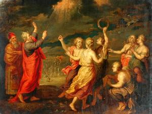 The Israelites Rejoicing After Crossing The Red Sea by Nicolas Poussin