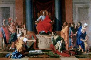 The Judgement of Solomon, 1649 by Nicolas Poussin