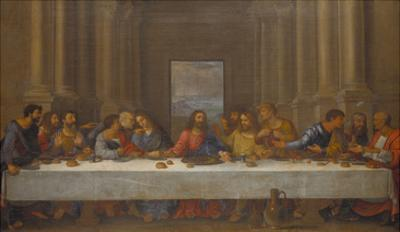 The Last Supper. (Copy after Leonardo Da Vinci) by Nicolas Poussin