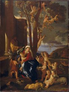The Rest on the Flight into Egypt, c.1627 by Nicolas Poussin