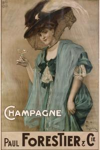 Champagne, 19th Century by Nicolas-Toussaint Charlet