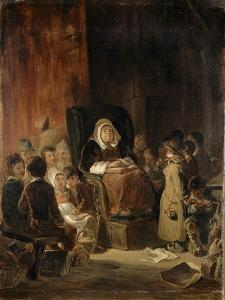 La Maîtresse d'école by Nicolas Toussaint Charlet