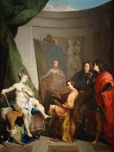 Apelles Painting Campaspe by Nicolas Vleughels
