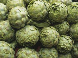 Artichokes at an Open Air Market by Nicole Duplaix