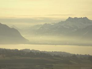 Mist Hovers above Lake Geneva by Nicole Duplaix