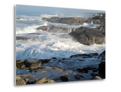 Waves Crashing on the Shoreline of Tillamook