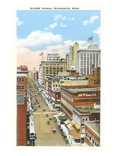 Nicollet Avenue, Minneapolis, Minnesota--Art Print