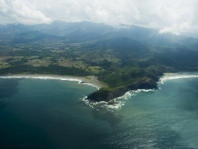 Nicoya Peninsula from the Air, Costa Rica, Central America-R H Productions-Photographic Print