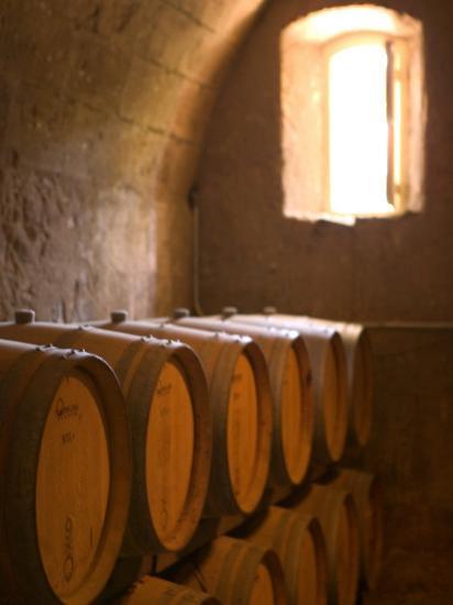 Niebaum-Coppola Estate Winery Wine Cellar, Rutherford, Napa Valley, California-Walter Bibikow-Photographic Print