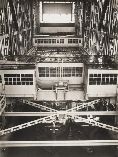 Niederfinow Boat Lift in the Berlin Shipyards, Germany in 1934-Robert Hunt-Photographic Print