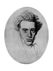 Soren Kierkegaard, Danish Philosopher and Theologian, C1840 by Niels Christian Kierkegaard