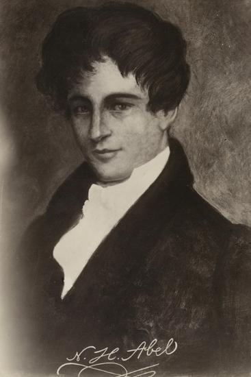 Niels Henrik Abel (1801-1829), Norwegian Mathematician--Giclee Print