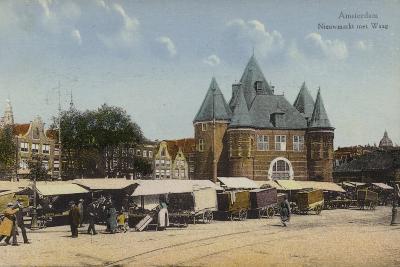 Nieuwmarkt and Waag, Amsterdam--Photographic Print