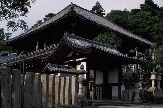 Nigatsu-Do Hall from the Todai-Ji Complex in Nara--Photographic Print