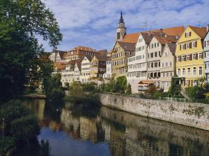 Buildings Overlooking the Neckar River at Tubingen, Baden Wurttemberg, Germany, Europe by Nigel Blythe
